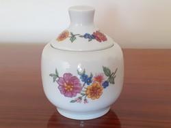 Retro Alföldi porcelán virágos cukortartó bonbonier