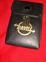 Retro  1971. A RAVILL 20 éves sohasem játszott Kártyagyári magyar kártya  bőr dobozával szép állapot