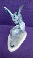 Antik Zsolnay porcelán csacsi