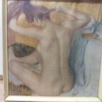 Edgar Degas Fésülködő Nő Reprodukció Múzeumi Nyomat, Festmény,Kép.
