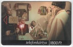 Magyar telefonkártya 0802   1999 Betlehem   ODS 4   50.000  darab