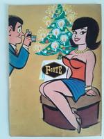 Ruszkay György Füles újság címlapterv FORTE karácsony 30 x 21 cm tempera