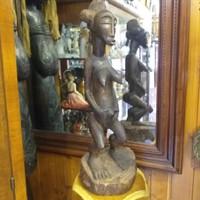 Ritka Nyugat Afrikai Elefántcsontparti Fa Szobor,Fafaragás Figura.Gyűjtői Darab.