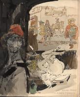 Zórád Ernő festménye Villon - Faludy: A Kövér Margot