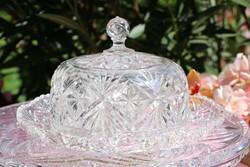 Öntött üveg  vajtartó