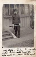 Katona portré kép, puska, szép egyenruha