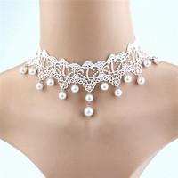 Ékszerek-nyakláncok: Esküvői, menyasszonyi, alkalmi choker nyakpánt, ES-L03e