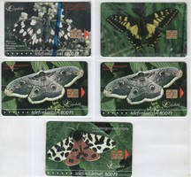 Magyar telefonkártya 0752    2004 Lepkék