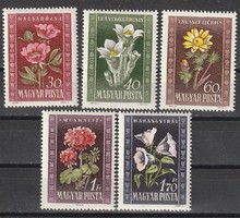 Virágok bélyegeken az 1950-es évből