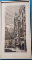 Rudolf Reinhart : Aranytetős ház Innsbruckban