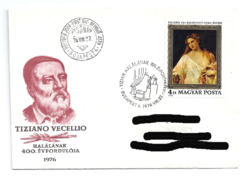 Tiziano festmény bélyegen, Tiziano halálának 400. évfordulójára