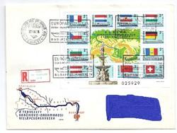 Duna-Majna-Rajna Európa Transzkontinentális Vízi Útja bélyeg blokkon