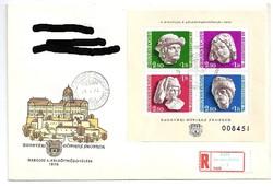 Budavári Gótikus Szobrok bélyeg blokkon