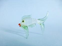 Muranoi üveg hal figura,szobor