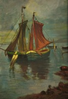 Ismeretlen festő (20.sz.eleje) : Kikötőben