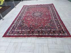 Antik iráni mashadi kézi csomózású  200x290 gyapjú perzsa szőnyeg MK_07