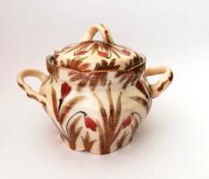 Nagyon ritka! Antik Pfeiffer & Löwenstein Versailles porcelán cukortartó