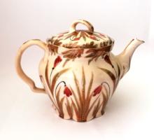 Nagyon ritka! Antik Pfeiffer & Löwenstein Versailles porcelán nagy teás kanna,kiöntő