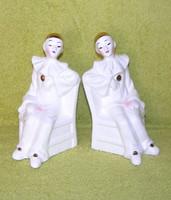 Harlequin bohóc porcelán könyvtámasz párban