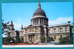 Nagy-Britannia,London,Szent Pál-székesegyház ,postatiszta, külföldi képeslap