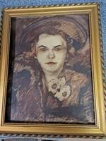 Kétoldalas festmény!!!!! Vaszary János??????