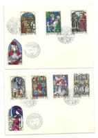 Magyarországi Üvegfestmények bélyegeken