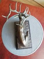 Prosper Lecourtier bronz szobor