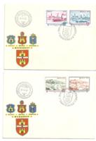 Óbuda-Buda-Pest egyesítésének 100. évfordulója alkalmából kiadott bélyegek