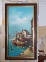 Számomra ismeretlen művész olaj vászon festménye eladó