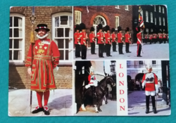 Nagy-Britannia,London,brit királyi testőrség katonája,postatiszta,külföldi képeslap