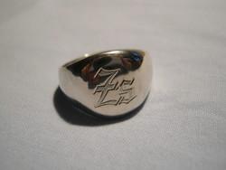 Férfi  egyedi ezüst pecsétgyűrű