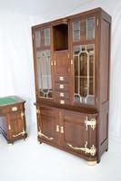 Szecessziós Járay Sigmund Wien 1900 íróasztal,könyvesszekrény,dolgozó szóba
