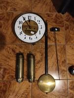 Nagyszàmlapos Óra szerkezet,inga, súlya !Àlló óra,Fali óra nagy tokos !