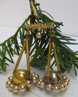 Üveg karácsonyfadísz gyöngyös mérleg