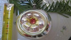 Régi karácsonyfadisz, ablakos gömb