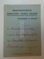 G21.2 Remetekertváros  - Irredenta  Keresztény Iparos Dalkör  Kárpátoktól az Adriáig  1939