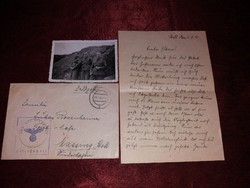 Második Világháborús eredeti német fotó és levél gyűjtemény!