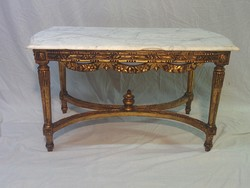 Gilded marble rococo table
