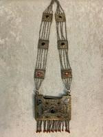 1911es gyönyörű Mongol ezüst tubák tartó