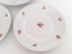 Régi KP Drasche porcelán virágos tányér 3 db