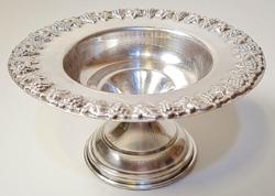 Judaika, Hazorfim antik 925-ös ezüst kiddush pohártartó / kínáló