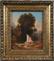 19. századi Antik Klasszicista mitológiai festmény