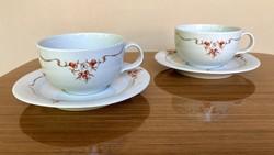 Alföldi vitrin csipkebogyós 2 db teás szett csésze aljjal