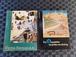 Brügel és festmény  könyvcsomag 2 db
