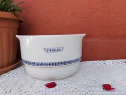 Ritka Alföldi porcelán Utasellátó leveses tál tál , Utasellátós  mintával  Gyűjtői