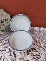 Ritka Alföldi porcelán 2 db Gulyásos tányér Utasellátós mintával  Gyűjtői