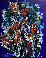Simeon Gonzales- Paisaje en Verde ( Zöld táj ) Akril, vászon-76x61 cm