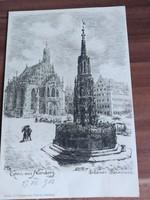 Antik képeslap, Nürnberg, 1903
