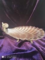 Antik ezüst 800-as (Diana) madármotivumos lábas kináló