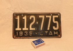Régi USA rendszám 1935 UTAH